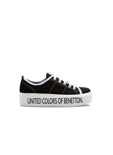 Benetton Bn30125 Kadın Spor Ayakkabı Siyah